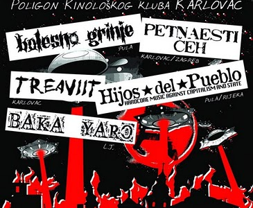 Hardcore-punk-crust-grind večer na Nepokorenom gradu 2011.